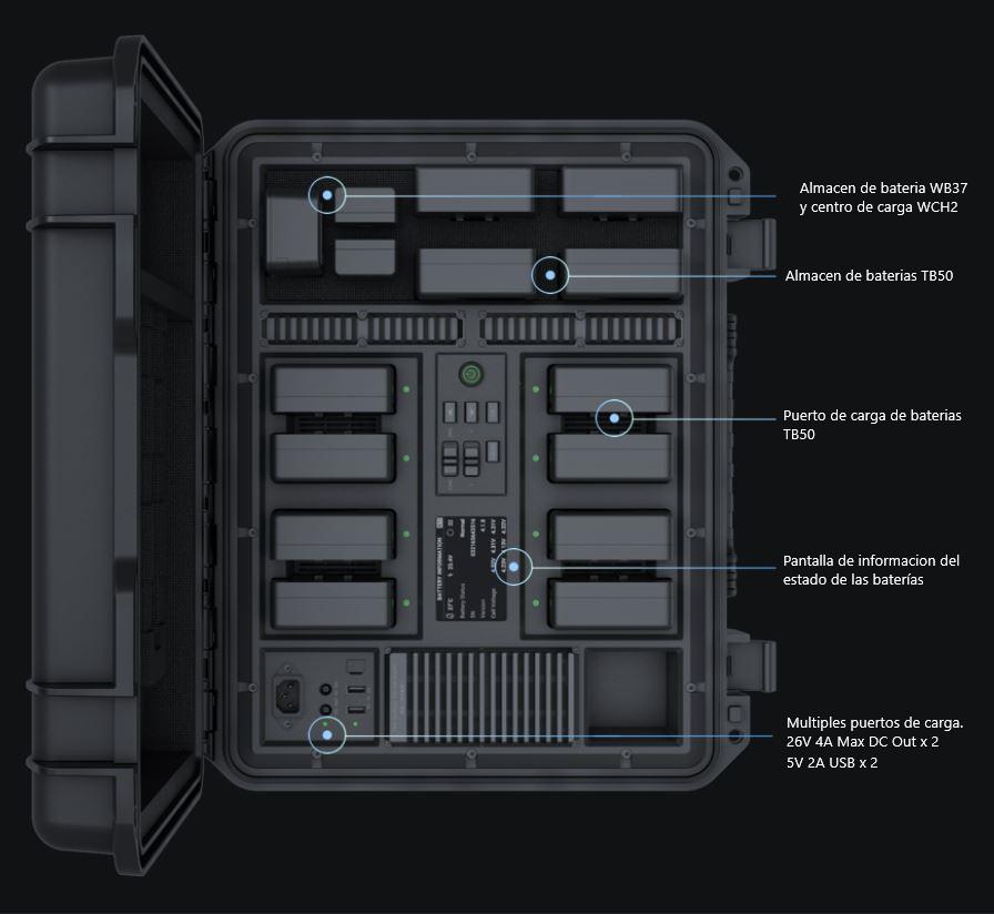 estación de carga para baterías DJI