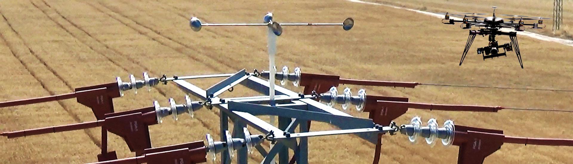Revision de redes eléctricas con drones