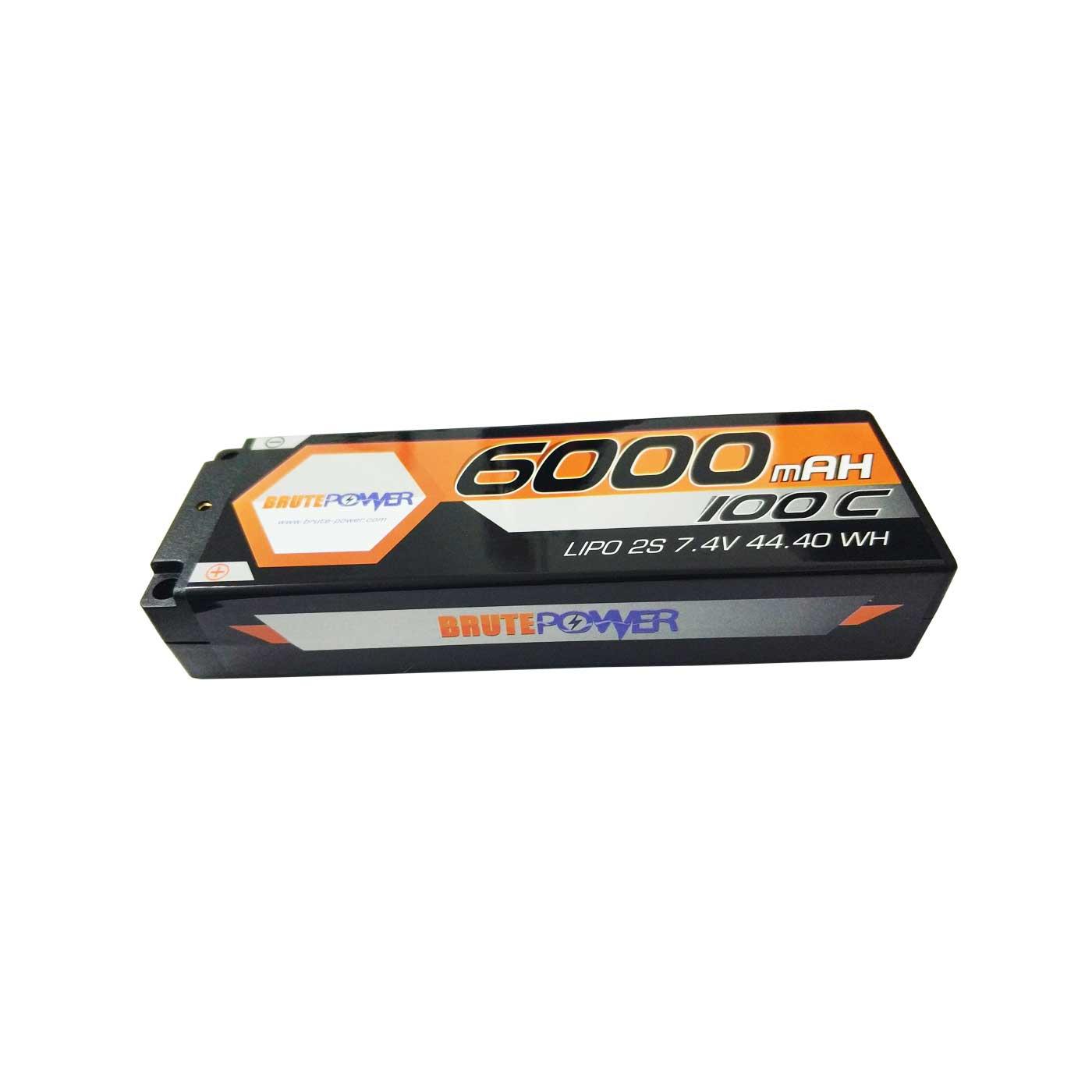 Batería LIPO Brutepower 2S 6000mah 100C
