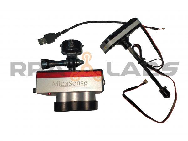 Soporte para camera multiespectral en drones DJI